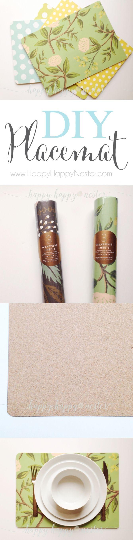 DIY Cork Board Placemats Happy Happy Nester