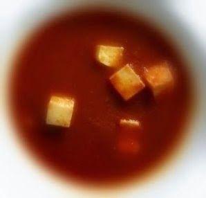Эликсир молодости: Лёгкий томатный суп с тофу