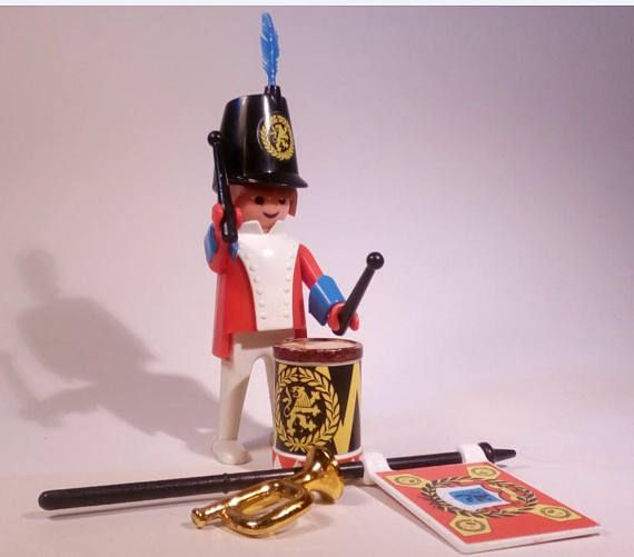 PLAYMOBIL / Porte drapeau-3388-A / collection vintage 1978