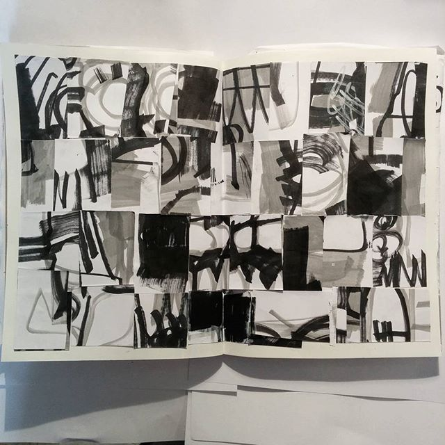 #inktober day 11.  Collage by artist David Andrews (#ink #collage #sketchbook #blackandwhite #paint #markers #marker #abstract #inktober2016)