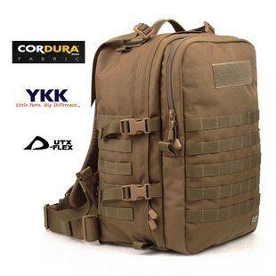 Médica Cordura mochila militar que acampa herramientas médica mochila negro / marrón del lobo 30 * 25 * 46 CM 2 KG