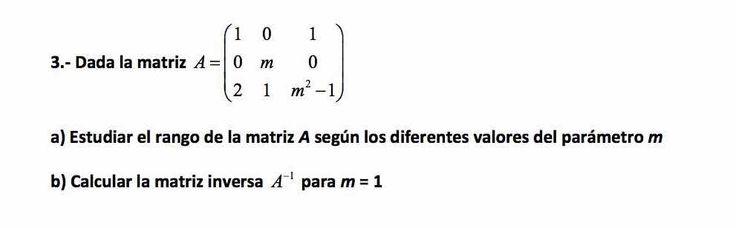 Ejercicio 3B Junio 2015-2016. Matemática, pau de Canarias, matemática 2, matrices y determinantes