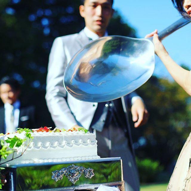 怯える新郎  #ファーストバイト#ビッグスプーン#結婚式の思い出にひたる会 #weddingphotography #wedding #20151017