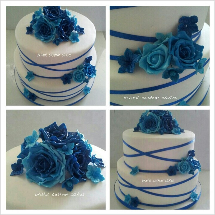 Two Tier Wedding Cake With Wired Sugarflowers Wedding