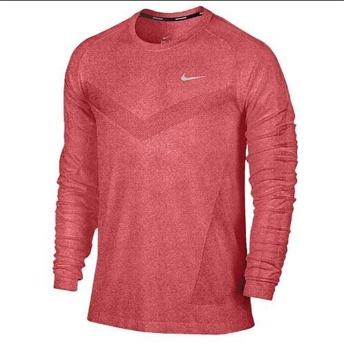 NEW Nike Men's Dri-Fit Long Sleeve Performance T-Shirt Gym Red 596177 688 Size L $39.99 #Nike #LongSleeveShirt #drifit #performance #Red