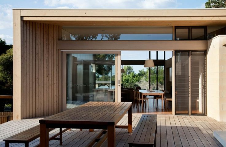 Australian architectural firm Studio101 has completed this two story contemporary beach house in Point Lonsdale, a coastal township on the Bellarine Peninsula, near Queenscliff, Victoria, Australia.