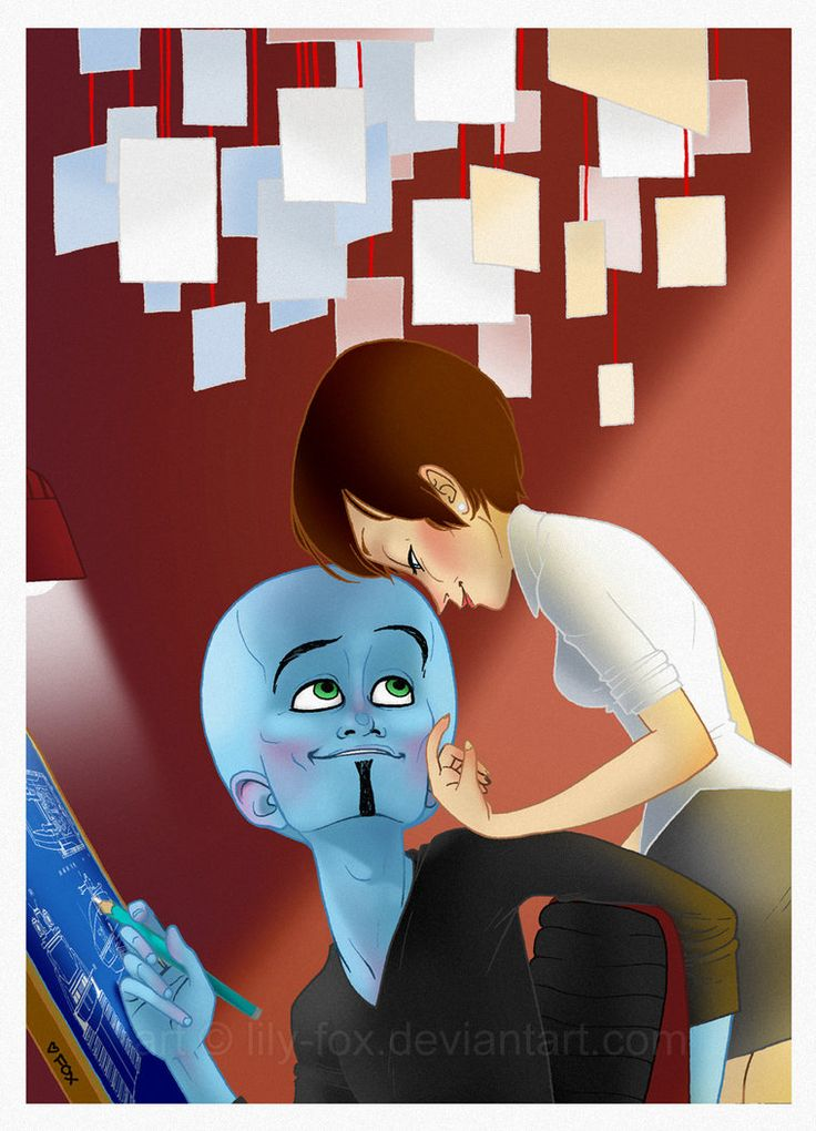 """Finally Friday"" by *lily-fox on deviantART. Megamind and Roxanne #fanart #megamind"