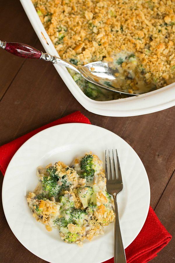 Broccoli Casserole (From Scratch!) on @browneyedbaker :: www.browneyedbaker.com