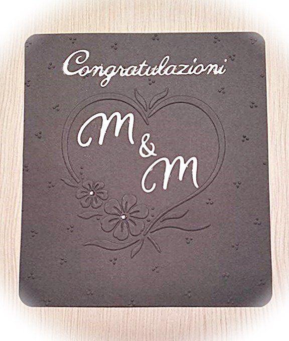 Biglietto di congratulazioni per matrimonio o anniversario, by Parentesi Creative, 1,30 € su misshobby.com