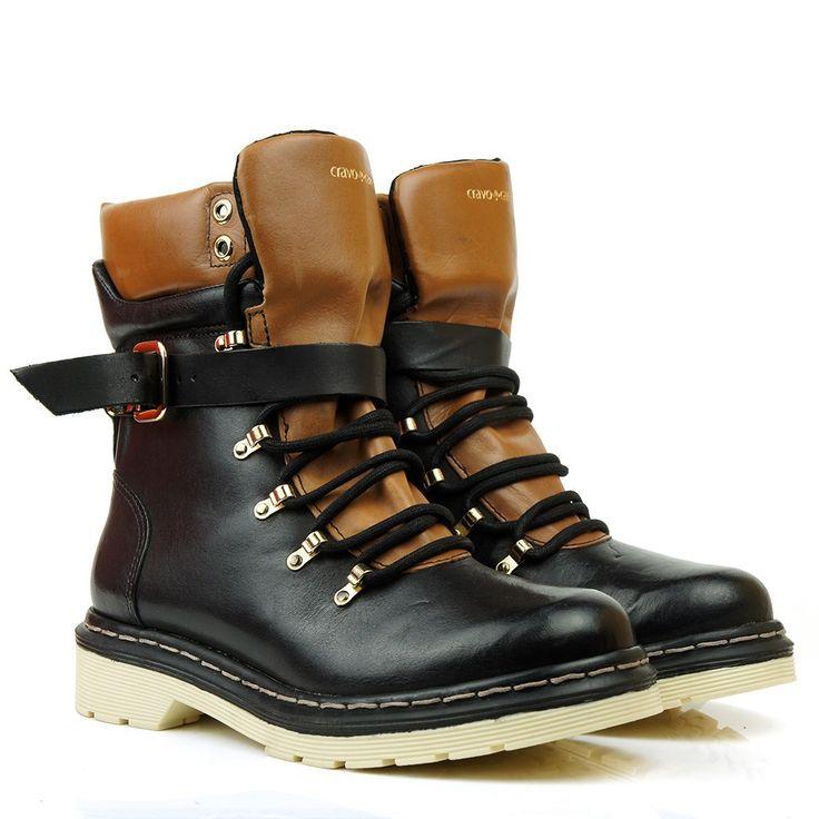 Black Boots - Bota Cravo E Canela Preto 85623-1 - BlackBoots