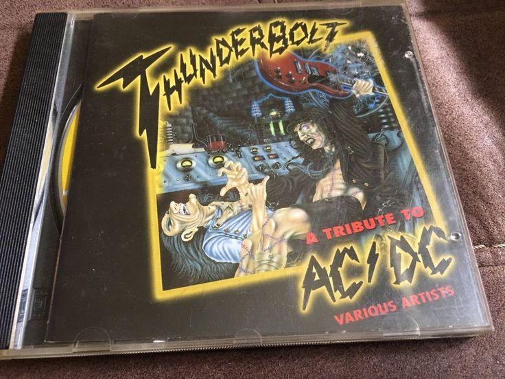 AC/DC TRIBUTE CD (thunderbolt A Tribute To AC/DC Various Artists Rare   | eBay
