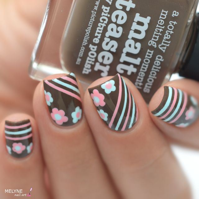 piCture pOlish = Julie aka @melynenailart wearing Malt-teaser + Sky + Fairy Floss So pretty ❤️❤️ thank you Julie :) www.picturepolish.com.au