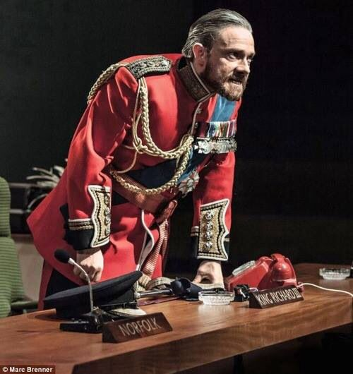 Mrs. Hudson was right. It really does age him. Martin Freeman in Richard III.