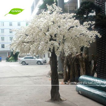 BLS040 GNW Artificial cherry blossom tree 12ft white color for garden decoration