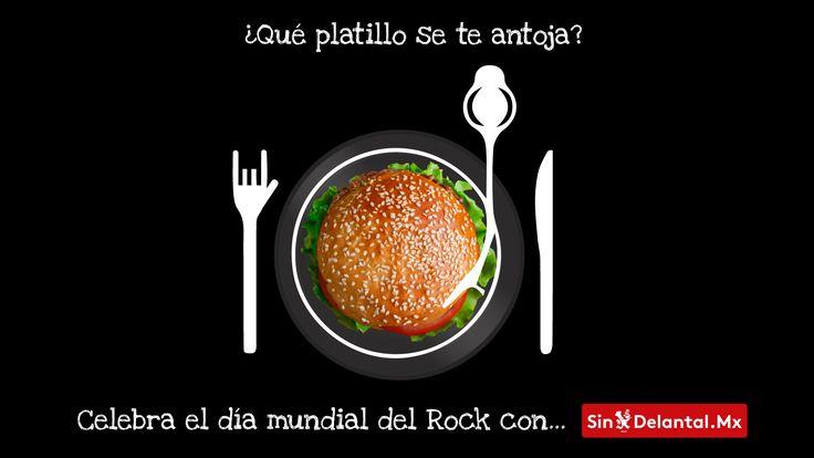 Rockea con la mejor comida sólo por SinDelantal.Mx 🤘🏻🎸🍕