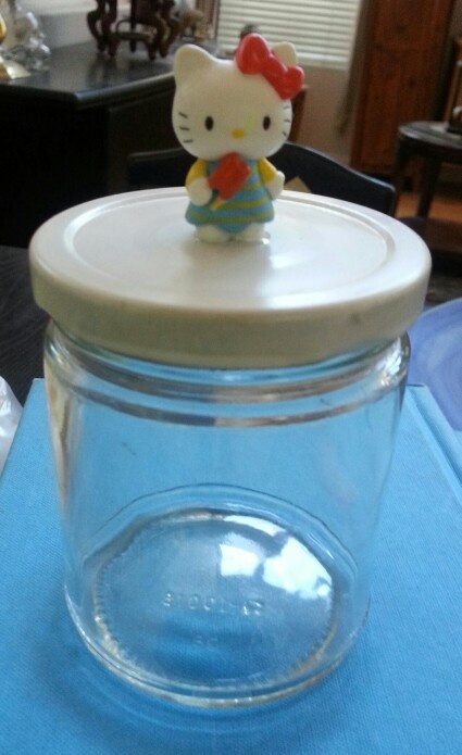 Recycled Jar #DIY #HelloKitty #PintrestInspired