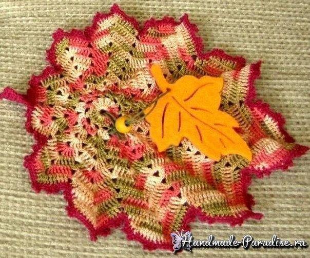 [club90078911|Осенние кленовые листья крючком. Схемы]