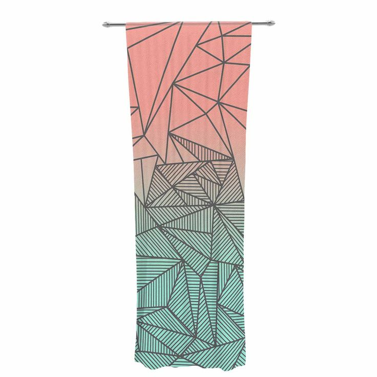 "Fimbis ""Bodhi Rays"" Geometric Illustration Decorative Sheer Curtain 