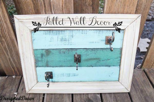 Pallet Wall Decor-repurposed wood pallet