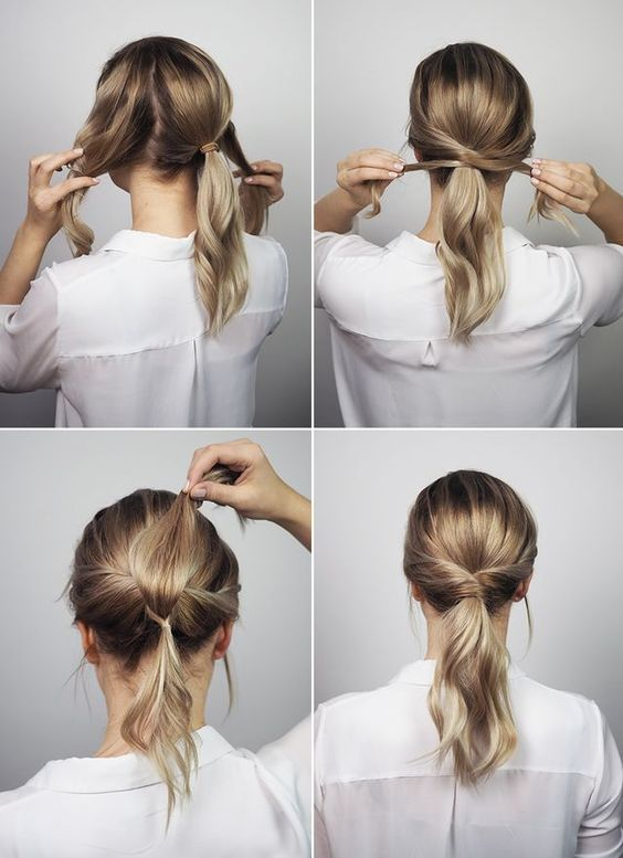 25 simple tutorials to style your hair properly #simple #hair #your #right #style