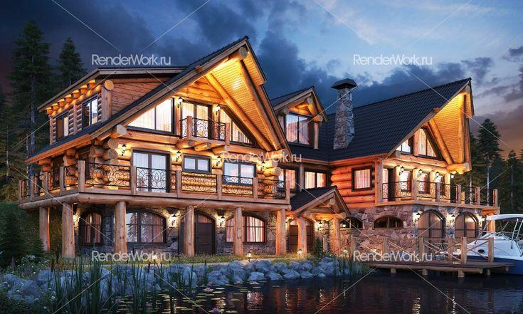 Архитектурная 3D визуализация экстерьеров домов, коттеджных поселков 3Д, общественных зданий