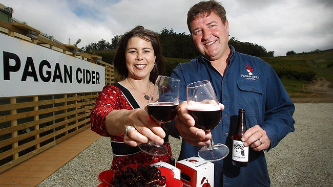 Waste not, want not at Huon orchard tranforming waste fruit into cider