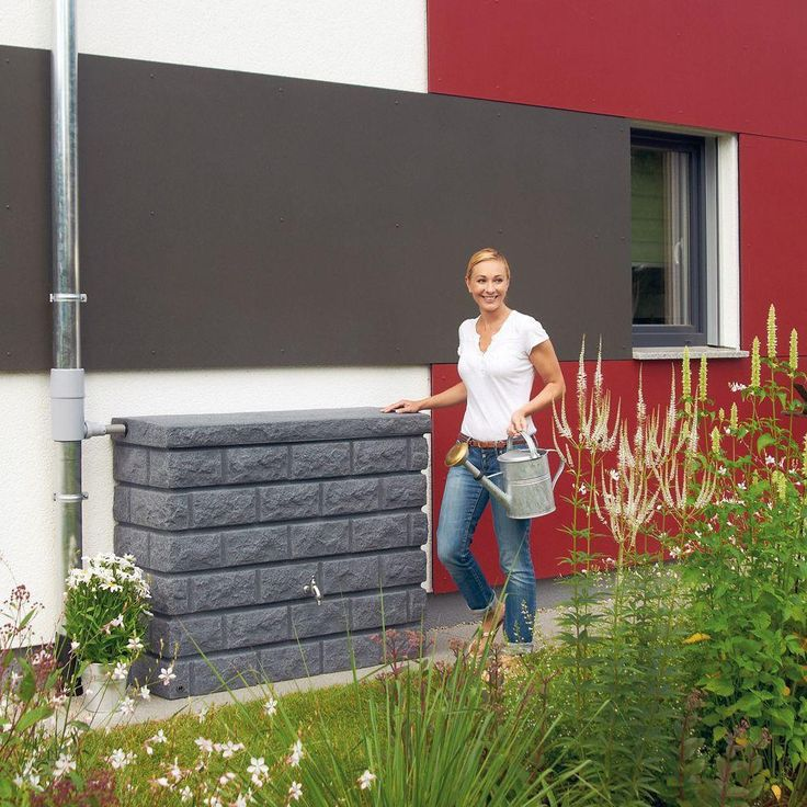 Terranova 72 Gal. Rain Tank-212120 - The Home Depot. The Terranova Wall Tank is a robust and decorative rain water storage tank with a modern look so it can be installed next to an outside wall. Made in Germany from high quality plastics that simulate natural stone and are made to last.
