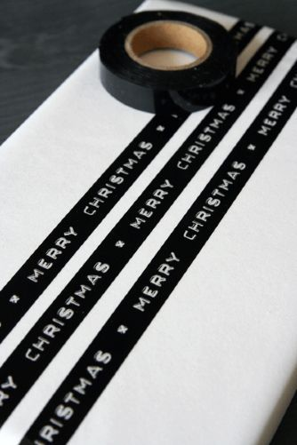 Black Merry Christmas Tape