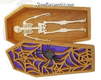 Свиток видел узоры :: праздники :: Хэллоуин и День мертвых :: Хэллоуин гроб коробка с каркасом -