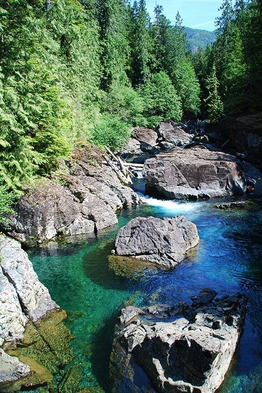 Leiner River, Tahsis, North Vancouver Island, British Columbia, Canada