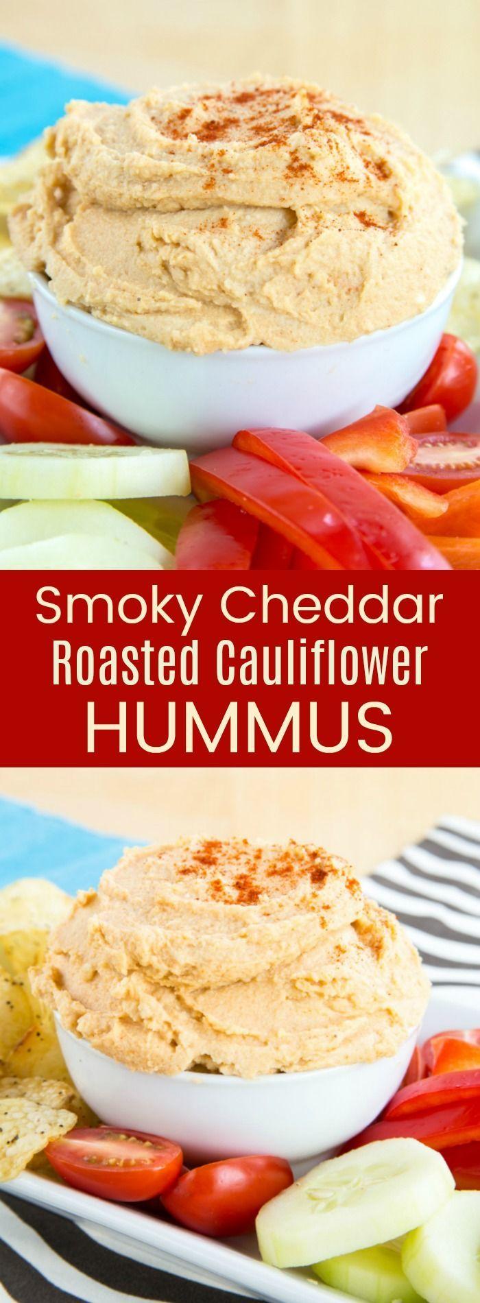 Smoky Cheddar Roasted Cauliflower Hummus  > I love making chick pea hummus at home, so I'm definitely excited to try cauliflower hummus soon!