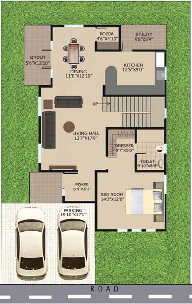 Small House Layout Ideas West Facing   Google Search