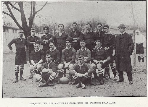 """Paul Roos & The """"Springbokken"""" in Paris in 1907 after a victorious tour of the UK. This is Bok rugby genesis."""