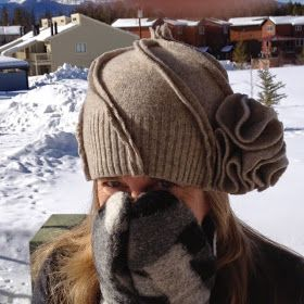 Rhonda's Creative Life: Thrifty Thursday: hat from a sweater!