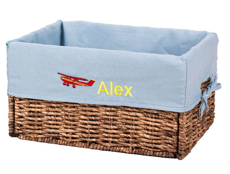 Items Similar To Personalized Kids Storage With Embroidered Liner, Foldable  Wicker Basket, Football Lovers GiftToy Box Customized Gift On Etsy
