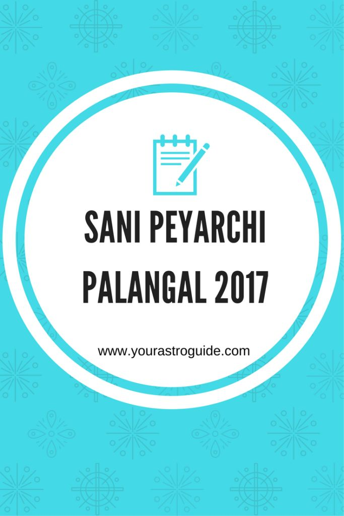 Sani Peyarchi Palangal 2017 are predictions based on Sani Peyarchi for the year 2017.
