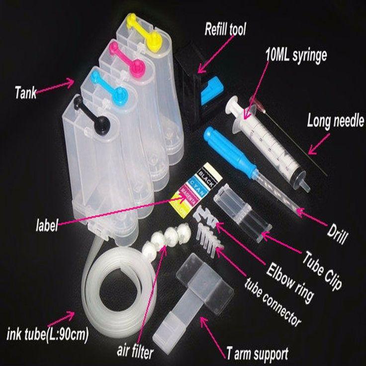 Sistema de Suministro continuo de Tinta kit de 4 Colores CISS Universal accessaries depósito de tinta para las impresoras HP Canon tinta bombeo Drill carpeta