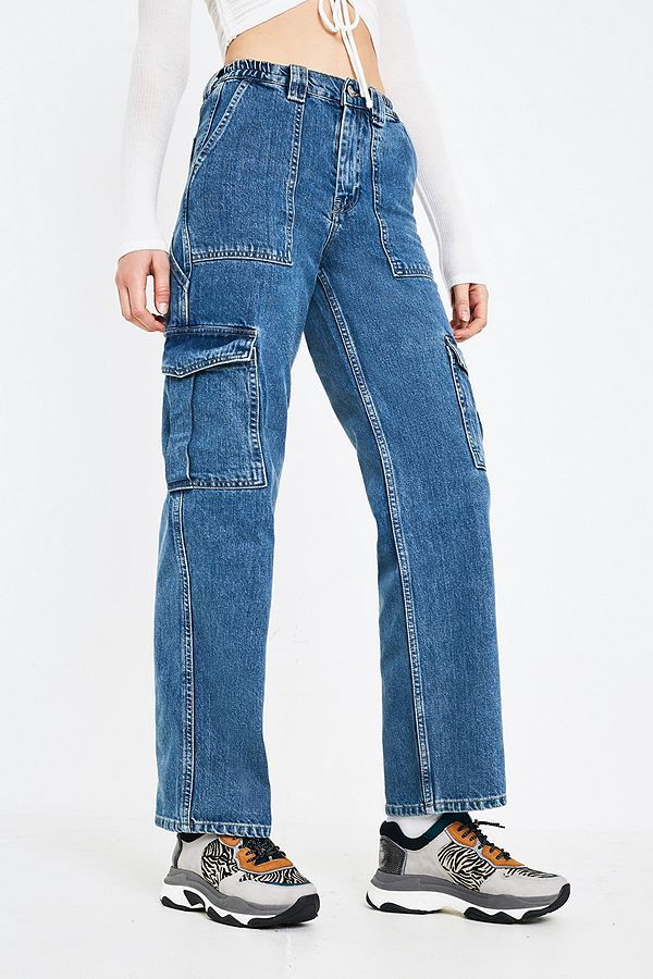 Slide View 2 Bdg Denim Elastic Waistband Skate Jeans Jeans Outfit Women Flannel Lined Jeans Denim Outfit