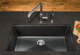 large tub, composite sink