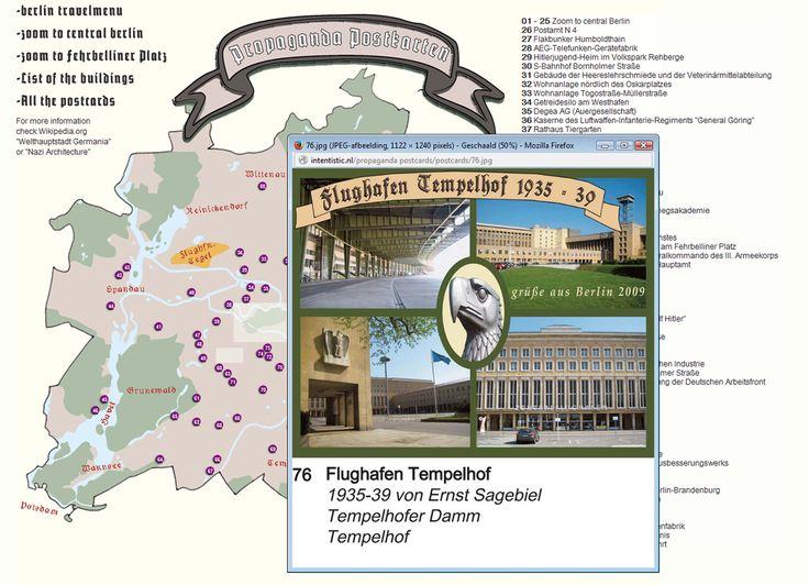 Propaganda Postkarten Flughafen Tempelhof
