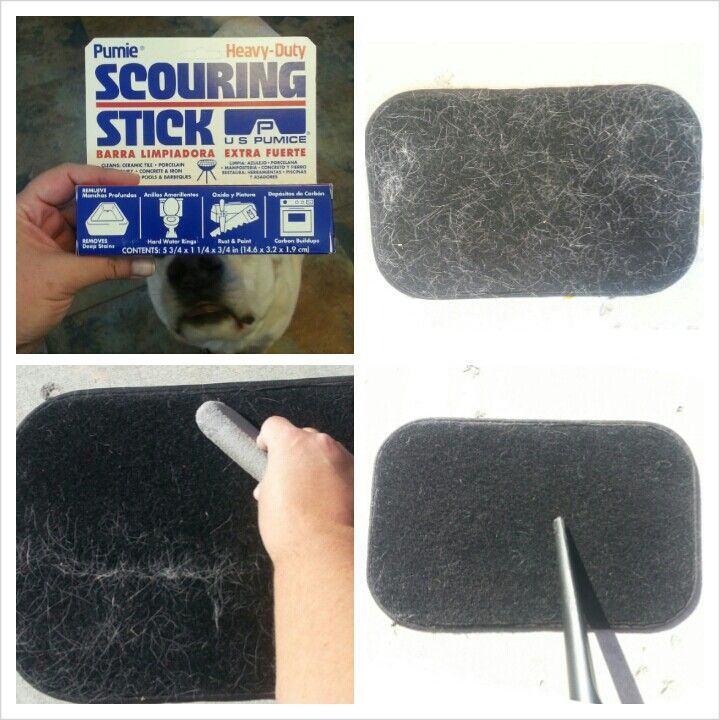 This will change pet owner's lives! I had to find a quick way to remove the hair out of my car I was selling, from the 2 beautiful beasts that were driven in my car for the past 4.5 years and nothing was working! I did a YouTube search and found this awesome solution! Just take a scouring stick (you can buy them at Wal-Mart, they are like a pumice stone.) Drag it over the hair and vacuum it up. It pulled the hair out so easily! I felt like I was the star of my own infomercial and wished I…