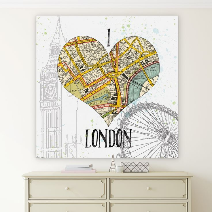Wexford Home 'I Love London Map' Premium Gallery-wrapped Canvas