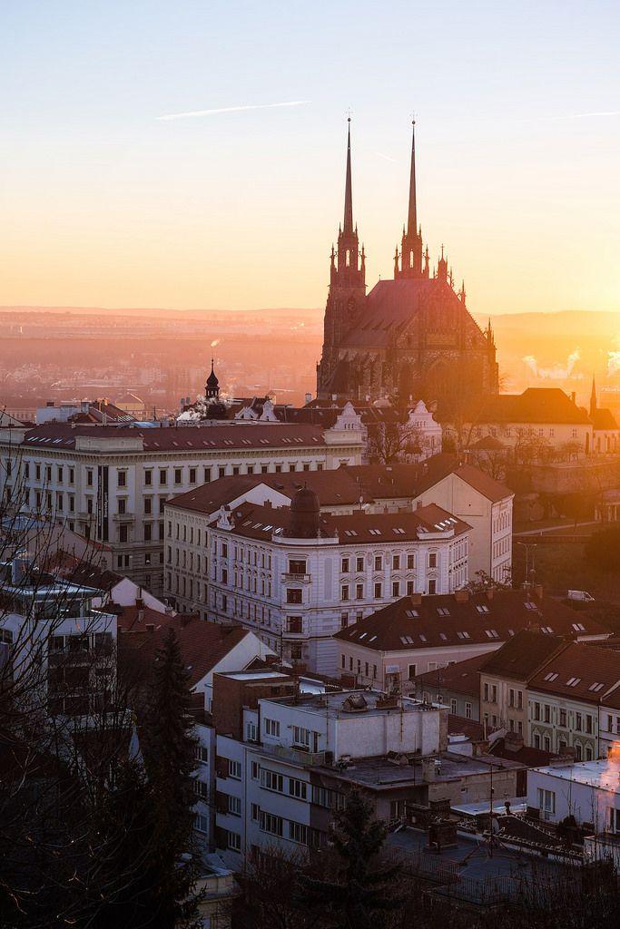 travelingcolors:  Sunrise over Brno | Czech Republic (by Marek)