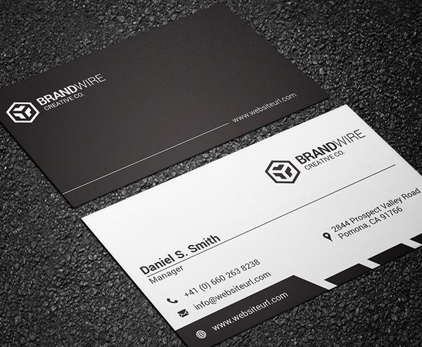 Simple Black White Business Card Business Cards Creative Templates White Business Card Business Card Template Design