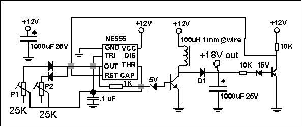 ne555 controlled pwm led dimmer circuit v good ccts t