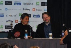 Guy Kawasaki and Chris Brogan from Blog World LA 2011 #guykawasaki #chrisbrogan #blogworld