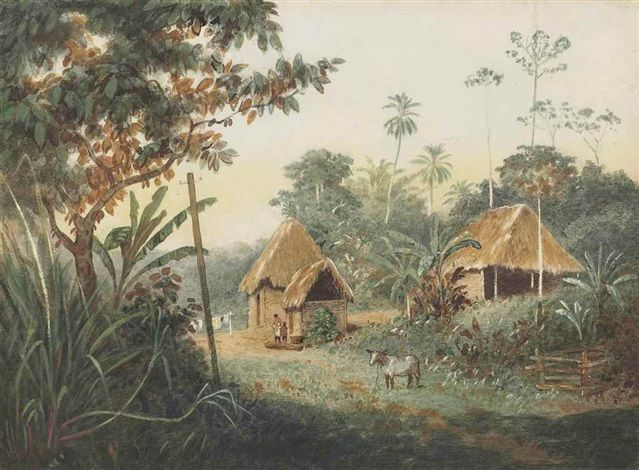 View Thatched Huts On A Cocoa Estate Trinidad By Michel Jean Cazabon Artnet Browse Upcoming And Past Auction Lots