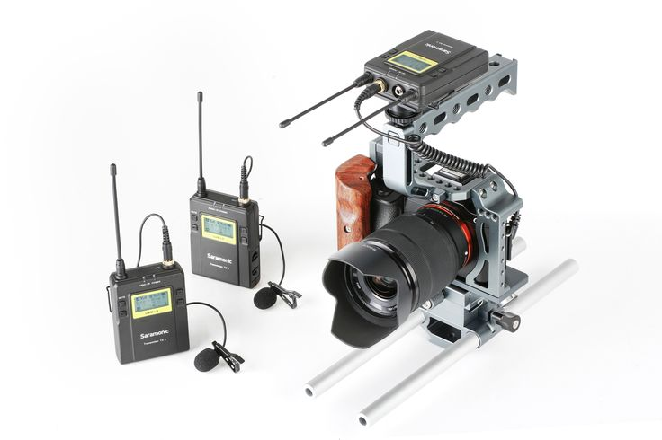 Saramonic UwMic9 UHF two groups wireless microphone system for DSLR cameras and camcorders Portable Wireless Receiver,Digital Wireless Bodypack Transmitter with Lavalier Microphone,Plug-on Transmitter, Digital Handheld Wireless Microphone Transmitter, stereo and mono output model  https://www.bl2.it/it/177_saramonic