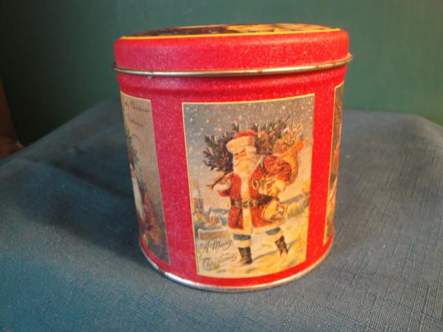 1984 Chein Industries, Inc. Bristol Ware, Made In U.S.A. Antique Post Card Chromolithographs, Christmas Tin by ThePeddlarsParadise on Etsy