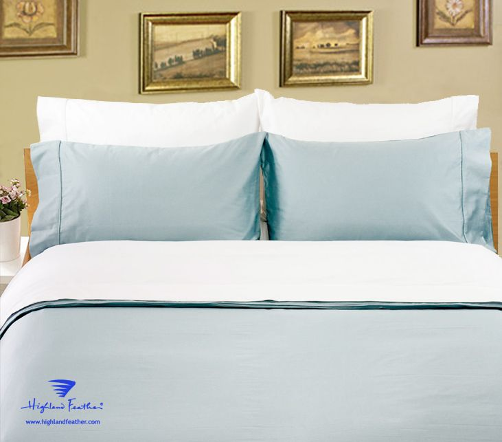 """Opulence"" Sateen Bedding (Sheet Sets Only)    400 Thread Count   100% Combed Cotton    • Solid Color Sateen with Large Size   • 18"" or 13"" Drop on Fitted Sheets       Colors: White, Ivory, Straw, Taupe, Chocolate, Spa Blue, Wine, Charcoal, Aloe Green, Lavender    Sheet Set Packaging:  One Flat Sheet, One Fitted Sheet and 2 Pillow Cases.  ( Twin Size with one Pillow Case)    Available in all sizes, including Twin XL"